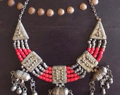 Reem Necklace Vintage Yemeni OOAK Tribal necklace