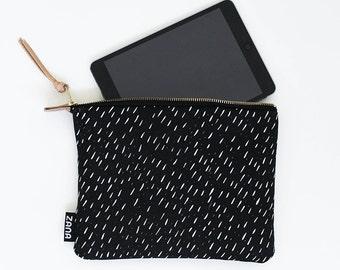 Modern Tablet Sleeve - Specks Black - iPad Mini Sleeve - iPad Sleeve - Kindle Sleeve