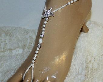 Bridal Jewelry Barefoot Barefoot Sandals Wedding Jewelry Destination Beach Jewelry Bridesmaids Gift -- ONE PAIR