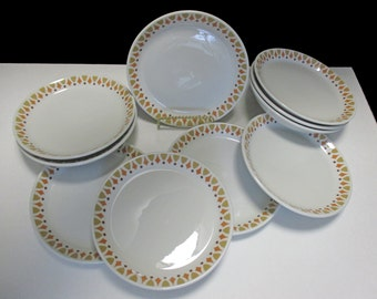 Shenango China FöRM Restaurant Ware Diner SHO 51 Pattern - Set of 4 salad plates (2 Sets Available) 1960s - Shipping Included