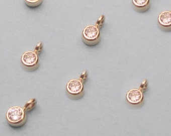 Solid 14k White Diamond Pendant Dangle, Classic Diamond Pendant, Conflict-Free Stones, Recycled Gold Settings, Bridesmaids Gifts, MOB Gift