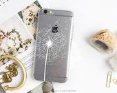 iPhone 7 Dandelion Clear Rubber Case iPhone 7 Plus Clear Case iPhone 6 Clear Case iPhone 6S Case iPhone SE Case Samsung S7 Edge Case U167