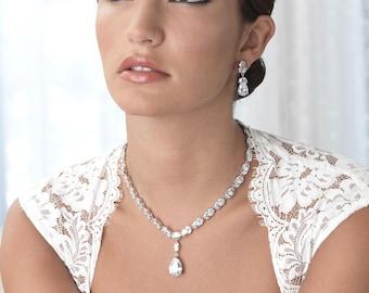 CZ Wedding Jewelry Set, Cubic Zirconia Bridal Jewelry Set, Wedding Jewelry, Bridal Jewelry, Bridal Accessories, Jewelry for Wedding ~JS-1635