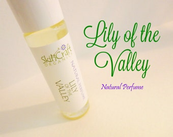 Lily of the Valley Perfume - Roll On Floral Perfume Oil - Organic Fragrance Perfume -  .3 oz Glass Roll On Glass Bottle