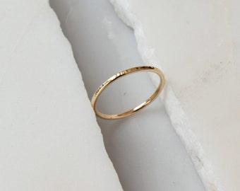 14k wedding ring thin wedding ring simple wedding band thin gold ring thin wedding band - Simple Wedding Ring