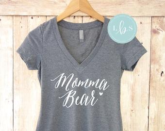Momma Bear Shirt. Vneck Slim Fit. Mama Bear Shirt. New Mom Shirt. Milf Shirt. Best Mom Ever Shirt. Mommy Shirt Mother's Day Gift. Mom Gift