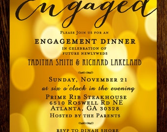 Engagement Rehearsal Dinner Party Invitation Printable Digital