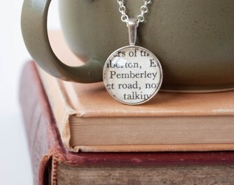 Pemberley Pendant, Mr Darcy Book Lover Gift, Jane Austen's Pride and Prejudice Jewelry, Gift for a Austen Fan
