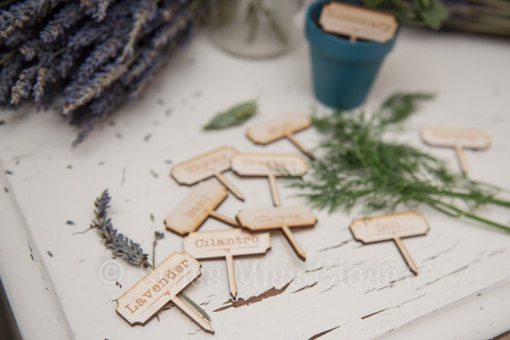 SALE!!! Set of 10 Wooden Herb Marker Ready to ship out!!