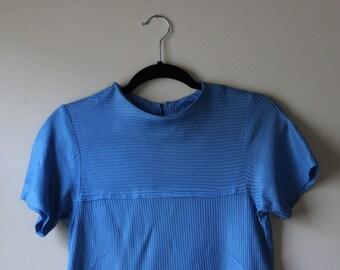 GO-GO Rib Knit Shift Dress || 1960s || Medium || Retro Day Dress