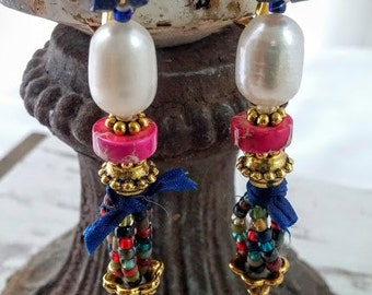 a little bit boho dangles, lever back earrings, spring/summer