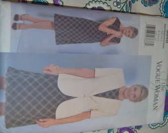 Vogue 9848 Misses / Misses Petite Jacket and Dress Sewing Pattern UNCUT  Size 8 10 12 or Size 14 16 18