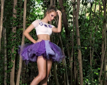 Adult tutu fairy costume womens Halloween costume plum fairy costume for adults plum lavender purple  tutu flower fairy pixie fairy fantasy