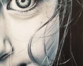 ORIGINAL ARTWORK - 'Eyes of a Child' - Pencil Drawing - Kirrily Duff