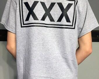 Straight Edge T Shirt Heather Grey XXX Hardcore Punk DIY SXE