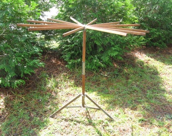 Antique Laundry Drying Rack, Collapsible Freestanding Wood Clothesline, Repurposing Possibilities