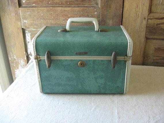 aqua green samsonite vanity case style no 5112 vintage. Black Bedroom Furniture Sets. Home Design Ideas