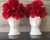 Vintage White Milk Glass Lady Head Vases Pair - Shabby Lady Head Vases