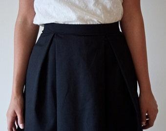 Black Pocket Skirt | Pleated Skirt | Black Skirt