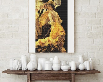 Counted Cross Stitch CHART The Ball by James Tissot