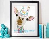 A Bigger Picture - Giraffe Fine Art Gilcee Print