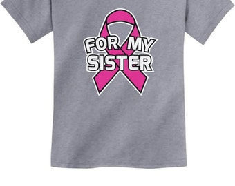 Ribbon For My Sister - Cancer Awareness - Youth Short Sleeve T-Shirt
