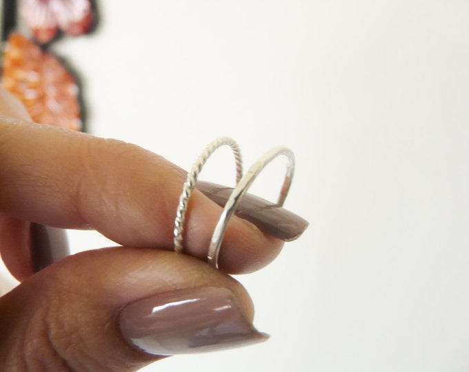 Stacking Rings Sterling Silver Rings  Handmade Jewelry For Her