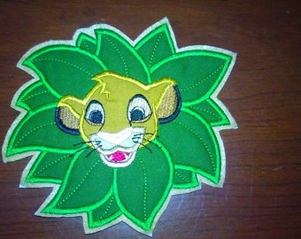 Custom Lion King Patch ~ Embroidered Simba Applique ~ Your Choice of Colors