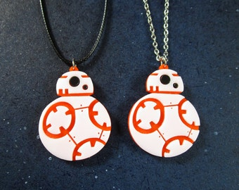 BB-8 Droid Pendant Necklace Star Wars Inspired Laser Cut Pendant Necklace