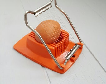 Vintage Egg Slicer Orange