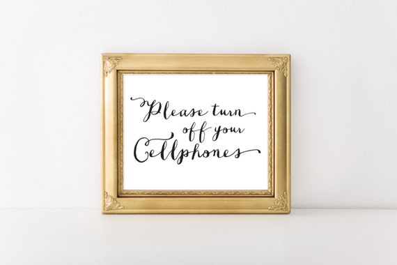 Instant Turn Off : Instant download please turn off your cellphones sign