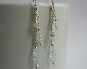 Aquamarine Earrings, Silver Earrings, Aquamarine Jewellery, Birthstone Jewellery, Birthstone Earrings, March Birthstone.