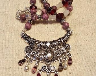 Royal Bohemian Statement Necklace - Royal Necklace - Bohemian Necklace - Statement Necklace