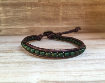 Evergreen Single Wrap Bracelet