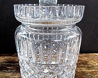 "Waterford ""Maeve"" Cut Crystal Biscuit Jar"