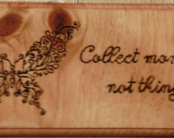 Butterfly Plaque with Saying
