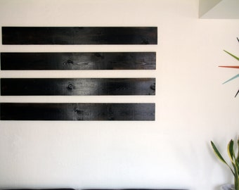 Modern Contemporary Rustic Wooden Wall Slat Pallet Boards Wood Slats Art Decor