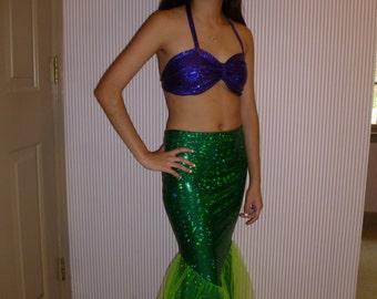 Mermaid Costume; Mermaid tail skirt