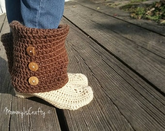 Slouchy Boot Slipper/ Comfy/ You Choose Colors/ Mamachee