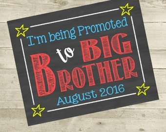 Big Brother To Be  Pregnancy Announcement - Digital File Only