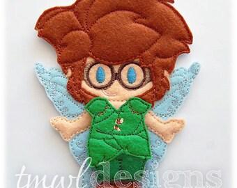 Garden Fairy Felt Paper Doll Toy Outfit Digital Design File - 5x7