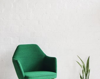 Green Retro Benchair restored