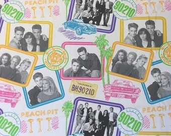 Beverly Hills 90210 Twin Flat Sheet TV Television Show Tori Spelling Shannen Doherty Popular Pop Culture Teen Drama Soap Opera 1990s 90s