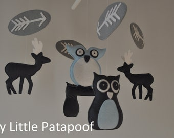 Baby Mobile. Owls and deers