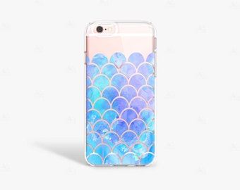 Mermaid iPhone 7 Case iPhone 7 Plus Case Clear Blue iPhone 7 Case Clear Samsung Galaxy S7 Edge Case Clear iPhone 6S Case Transparent