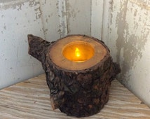 Rustic country limb candle holder, flame less candle holder from an old tree limb