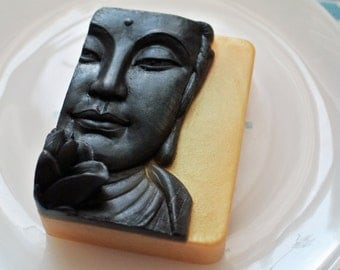 Buddha Soap with Open Lotus Flower