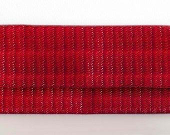 Glossy Red Foldover Clutch, Black Interior, Glossy, Vinyl, Party Clutch, Handbag, Foldover Clutch, Woven