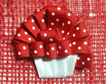 Cupcake (Red) Hair Clip