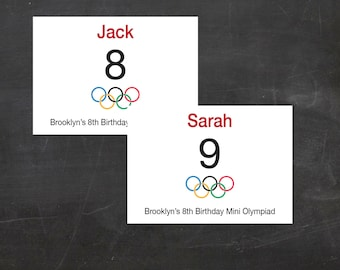 Olympic Bibs - Let the Games Begin - Custom Printable Ready for your party